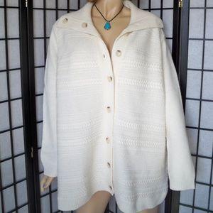 Nwt $179 TALBOTS 3XP Cream Cardigan Sweater-Coat